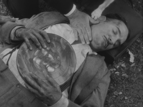 The Artist George Valentin (Jean Dujardin) discovers that nitrate won't wait