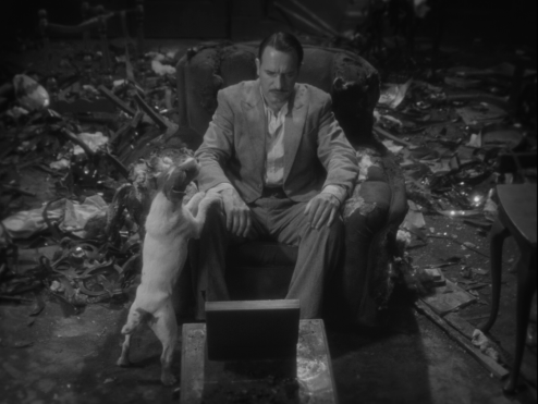 The Artist Uggie tries to convince Valentin not to kill himself