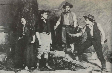 Original stage production of The Trail of the Lonesome Pine with Charlotte Walker, Berton Churchill, WIlliam S. Hart & Willard Robertson