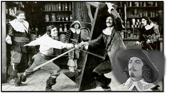 Leon Bary as Athos in The Three Musketeers